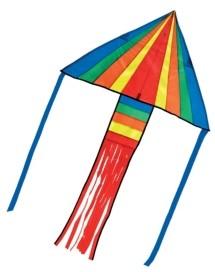 Melissa & Doug Rainbow Rocket Delta Kite