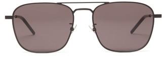 Saint Laurent Aviator Metal Sunglasses - Womens - Black