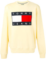 Tommy Hilfiger classic logo printed sweatshirt - men - Cotton/Polyester - M