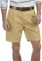 Nautica Shorts, Anchor Double Pleat Khaki