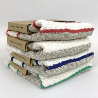 Creamore Mill - Two Range Towels (pair) - Red Stripe
