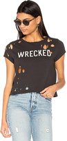 Mother Crop Goodie Goodie Wrecked Tee in Black. - size L (also in M,S)
