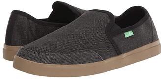 Sanuk Vagabond Slip-On Sneaker (Black/Gum) Men's Shoes