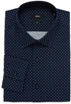 HUGO BOSS Jenno Slim-Fit Patterned Dress Shirt