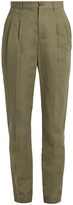 A.P.C. Lena slim-leg cotton-blend gabardine trousers