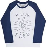 "Munster Men's ""Run Free"" Jersey Long-Sleeve T-Shirt-WHITE"