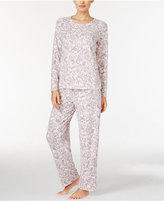 Charter Club Printed Thermal Fleece Pajama Set, Only at Macy's