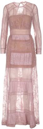 Self-Portrait Lace Trim Long Dress
