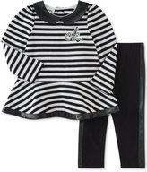 Calvin Klein 2-Pc. Striped Tunic & Leggings Set, Baby Girls (0-24 months)