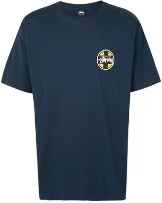 Stussy cross dot logo print T-shirt
