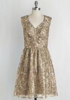 Twinkling at Twilight Sequin Dress in Champagne in 6