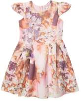 Halabaloo Watercolor Scuba Dress