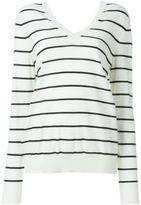 Marni v-neck striped jumper