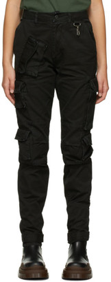 Reese Cooper Black Twill Cargo Trousers