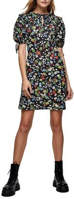 Topshop Floral Print Minidress