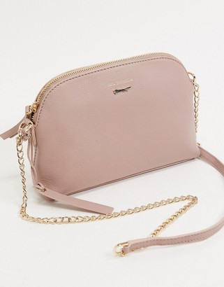 Paul Costelloe cross body bag with chain strap in grey