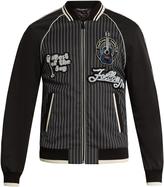 Dolce & Gabbana Embellished-badge cotton-blend bomber jacket