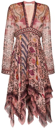 Etro Mixed Print Dress
