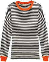 MICHAEL Michael Kors Striped Stretch-jersey Top - Midnight blue