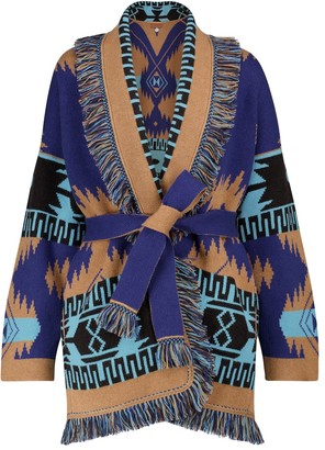Alanui Regenerated Icon cashmere and wool cardigan