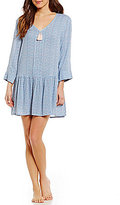 Lucky Brand Ditsy Challis Drop-Waist Nightgown