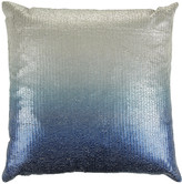 Aviva Stanoff Couture Sequin Cushion - 50x50cm - Ombre Twilight