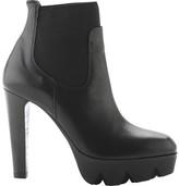 Vic Matié Women's Justice Leather Lug Sole Platform Chelsea Bootie