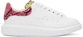 Alexander McQueen White Snake Oversized Sneakers