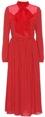Valentino polka-dot silk dress