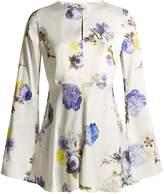 Acne Studios Bahair open-back floral-print satin top