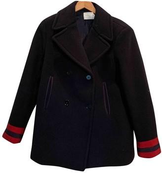Sandro Blue Cotton Coat for Women