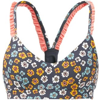 The Upside Atacama Larri Floral Medium-impact Sports Bra - Blue Multi