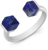 Vita Fede Ultra Mini Double Cubo Lapis Ring, Silver
