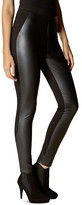 Karen Millen Faux Leather-Front Leggings