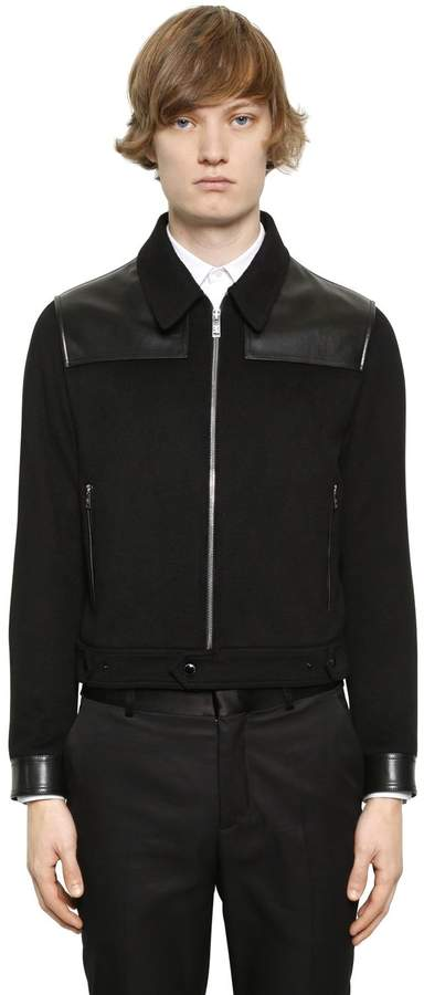 Alexander McQueen Cashmere Jacket With Leather Details