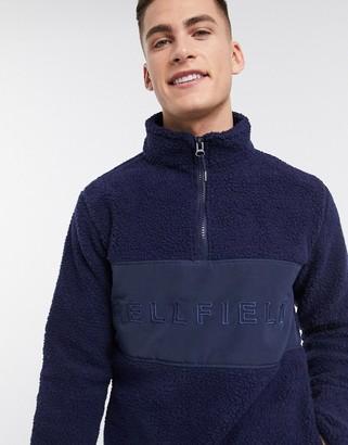 Bellfield borg overhead jacket in navy