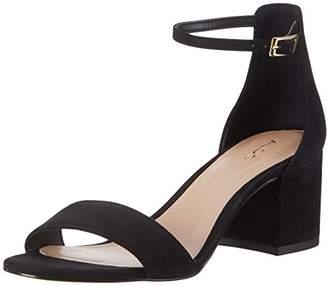Aldo Women's Villarosa Ankle Strap Sandals, (Black Nubuck), 36 EU