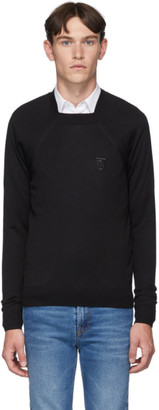 Burberry Black Monogram Knit Sweater