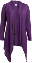 Bellino Plum Drape Cardigan - Plus