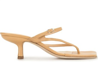 BY FAR Desiree square-toe sandals
