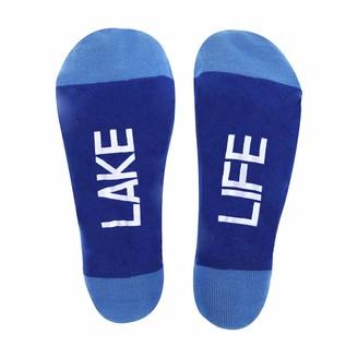 Pavilion Gift Company Lake Life Fish Patterned-Small/Medium Unisex Crew Cut Socks
