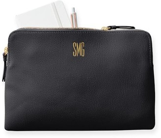 Mark And Graham Everyday Italian Leather Zipper Pouch