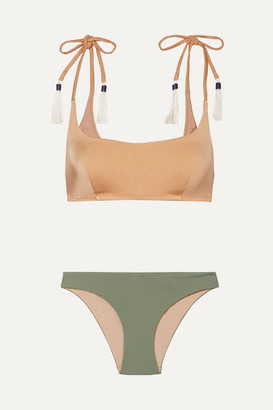 Emma Pake Aurora & Fia Tasseled Bikini - Gold