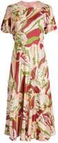 Victoria Beckham Abstract Print Dress