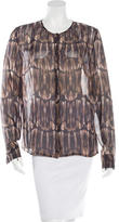 J Brand Silk Printed Blouse w/ Tags