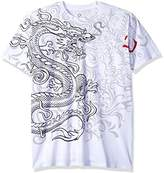 Liquid Blue Men's White Dragon T-Shirt