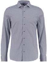 Eterna Slim Fit Shirt Blau/grau