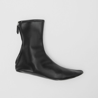 Burberry Faux Leather Ankle Socks