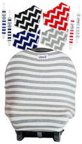 Gray Stripe Seat Cover Gift Set