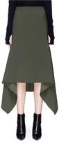 Dion Lee 'Balance' poncho drape crepe cady maxi skirt